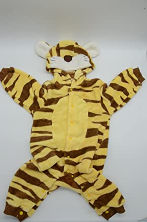 cc7452a19981f ベビー 赤ちゃん 着ぐるみ コスチューム トラ baby 新生児 ベビーウェア (80)