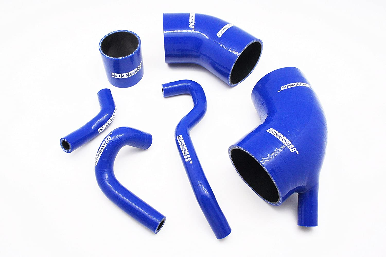 Autobahn88 Kit de manguera del refrigerador intermedio del silicón, Modelo ASHK203-BL (Azul - sin sistema de abrazadera): Amazon.es: Coche y moto