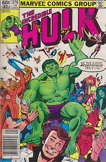 Amazon com: Incredible Hulk, The #279 (Mark Jewelers) VG