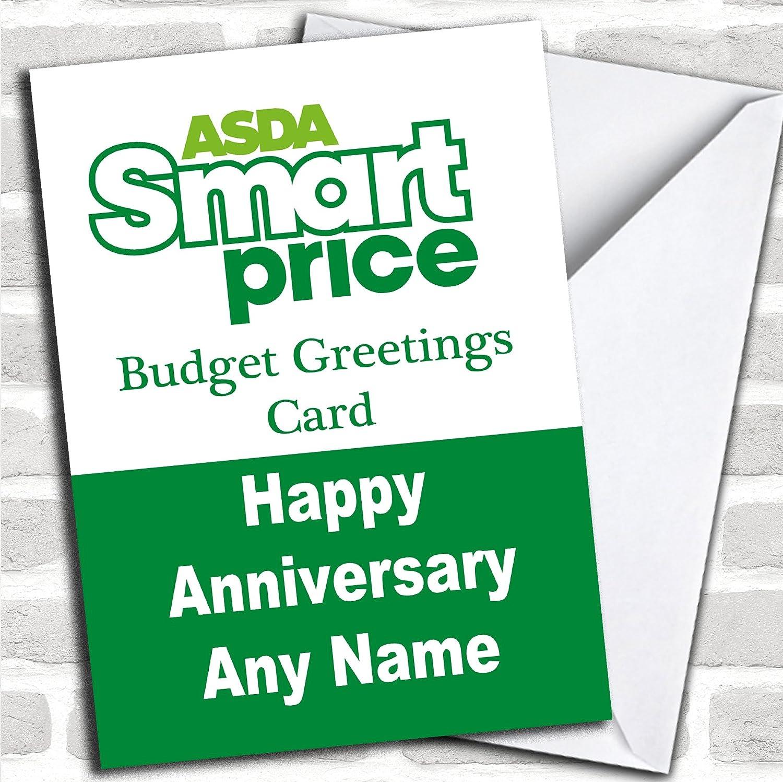 Funny Joke Asda Smart Price Spoof Anniversary Card With Envelope