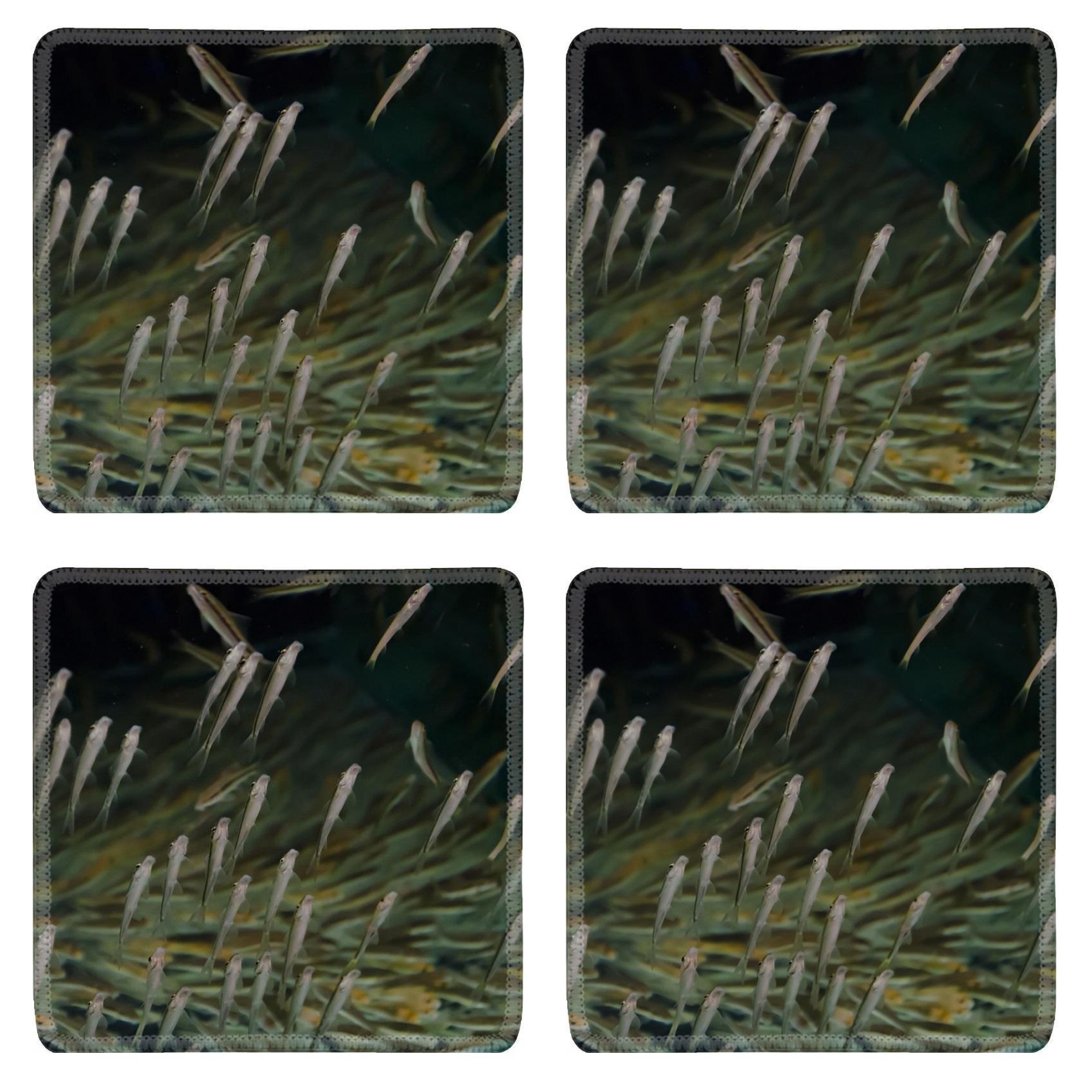 MSD Square Coasters Non-Slip Natural Rubber Desk Coasters design 20439007 aquarium fish spa in Thailand