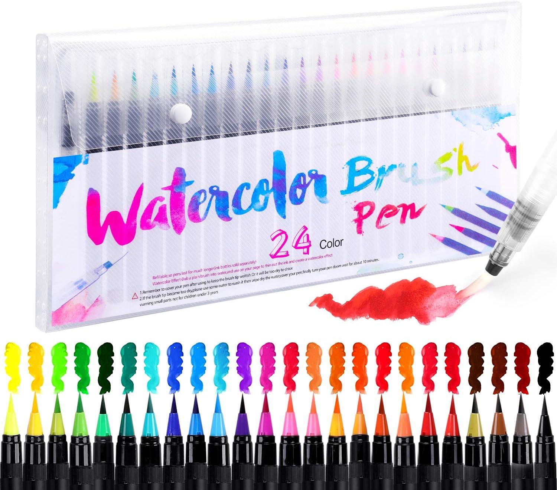24+1 Pinselstifte Handlettering Stifte Set