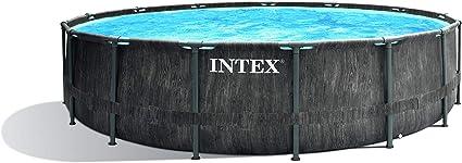 Intex Premium Frame Pool Set Prism Greywood Ø 457 x 122 cm Juego ...