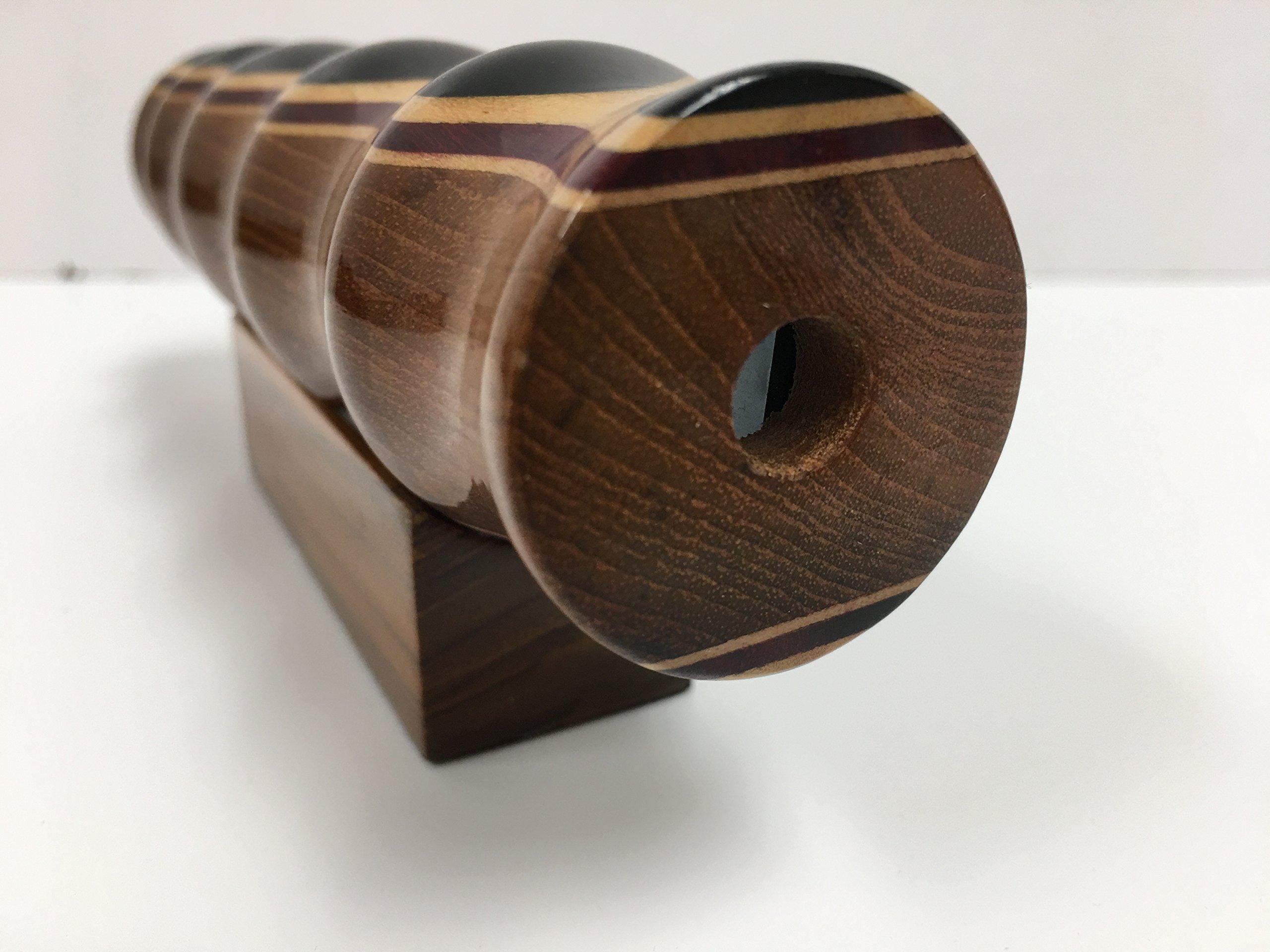 N & J Kaleidoscope Teleidoscope in Teak, 7 Inch Barrel, Laminated Solid Woods Including Padauk, Jalneem and Ebony by N & J (Image #3)