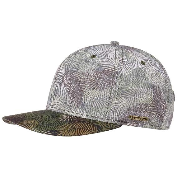 7c237f7570d Stetson Palm Leaf Baseball Cap Cotton Snapback (One Size - Olive-Mottled)