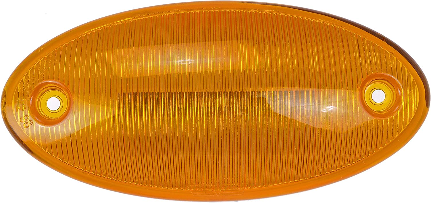 Partsam 1Pcs 888-5125 Cab Marker Roof Light Amber Lens Amber Light Top Lights Assembly Compatible with Select IC//IC Corporation//International Harvester Trucks 1986-2018