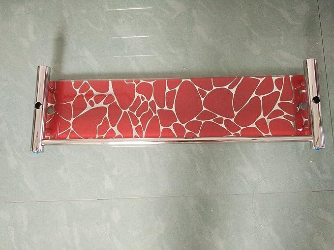 Hlluya Toallero WC estanterías de Acero Inoxidable Doble acristalamiento Cuarto de Baño 3 Baño Toallas en el baño de Metal de Pared toallero, Rosa roja 60CM ...