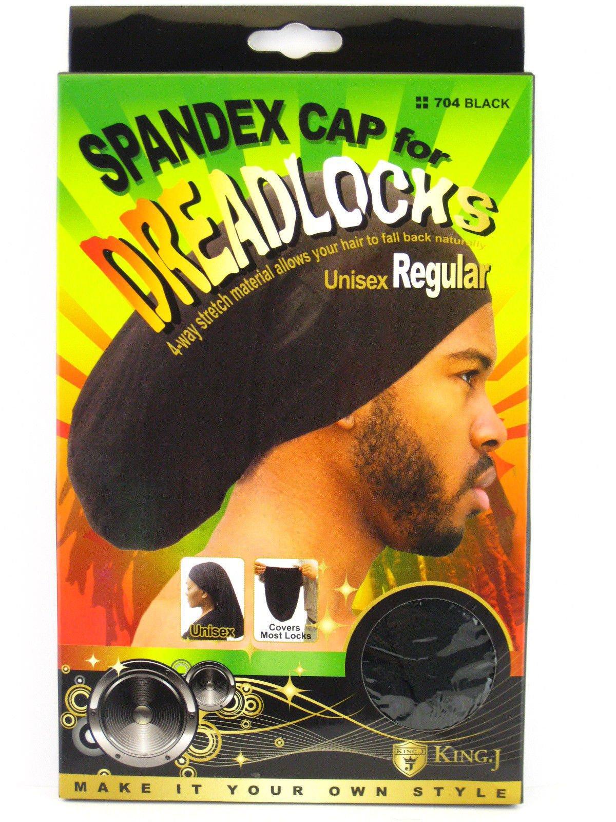 (PACK OF 6) King J DREADLOCKS WAVE CAP (BLACK)