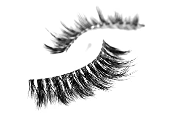 dcb2b21d88a Amazon.com : Long Wispy Lashes Thick Dramatic Real 3D False Mink Eyelashes  Cruelty Free Reusable For Glamorous Make Up in style Nefertiti : Beauty