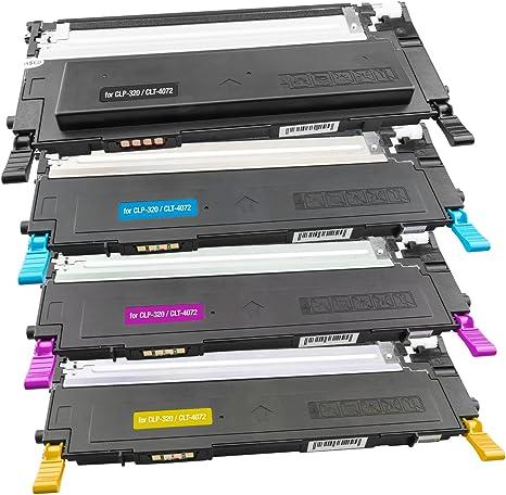 PlatinumSerie/® 4x cartucho de t/óner compatible con Samsung CLP-320 N CLP-320 Series CLP-325 CLP-325 N CLP-325 W CLX-3180 CLX-3185 CLX-3185 FN CLX-3185 N CLX-3185 Series CLX-3185 W