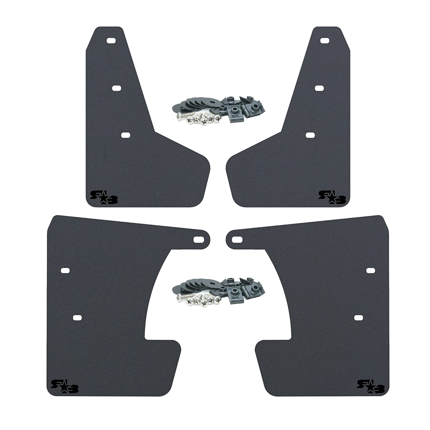 Multiple Colors Available Includes All Mounting Hardware RokBlokz Mud Flaps for 2017 Mud Guards are Custom Cut and Fit Lime Green with Black Logo, Original Subaru Impreza