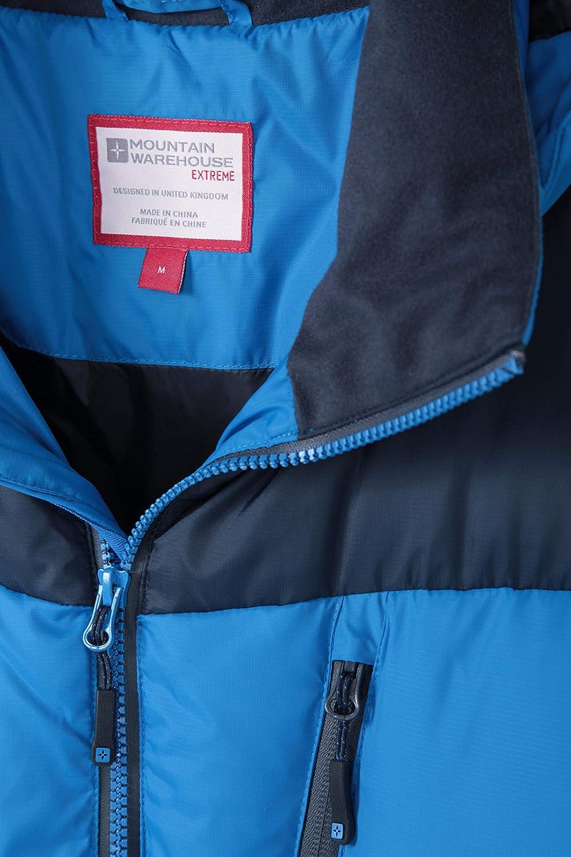 Prenda para Clima fr/ío c/álido y Ajustable acampadas Abrigo Acolchado con Cremallera Impermeable Mountain Warehouse Chaqueta de Plumas Polar Expedition para Hombre