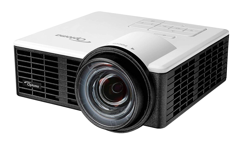 Optoma ML1050ST - Proyector LED Ultra Corto, 1000 Lúmenes, 20000:1 Contraste, Formato 16:10, Color Blanco
