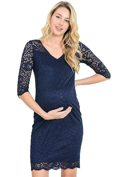 Hello MIZ Vestido de Maternidad para Mujeres Pequeña Armada