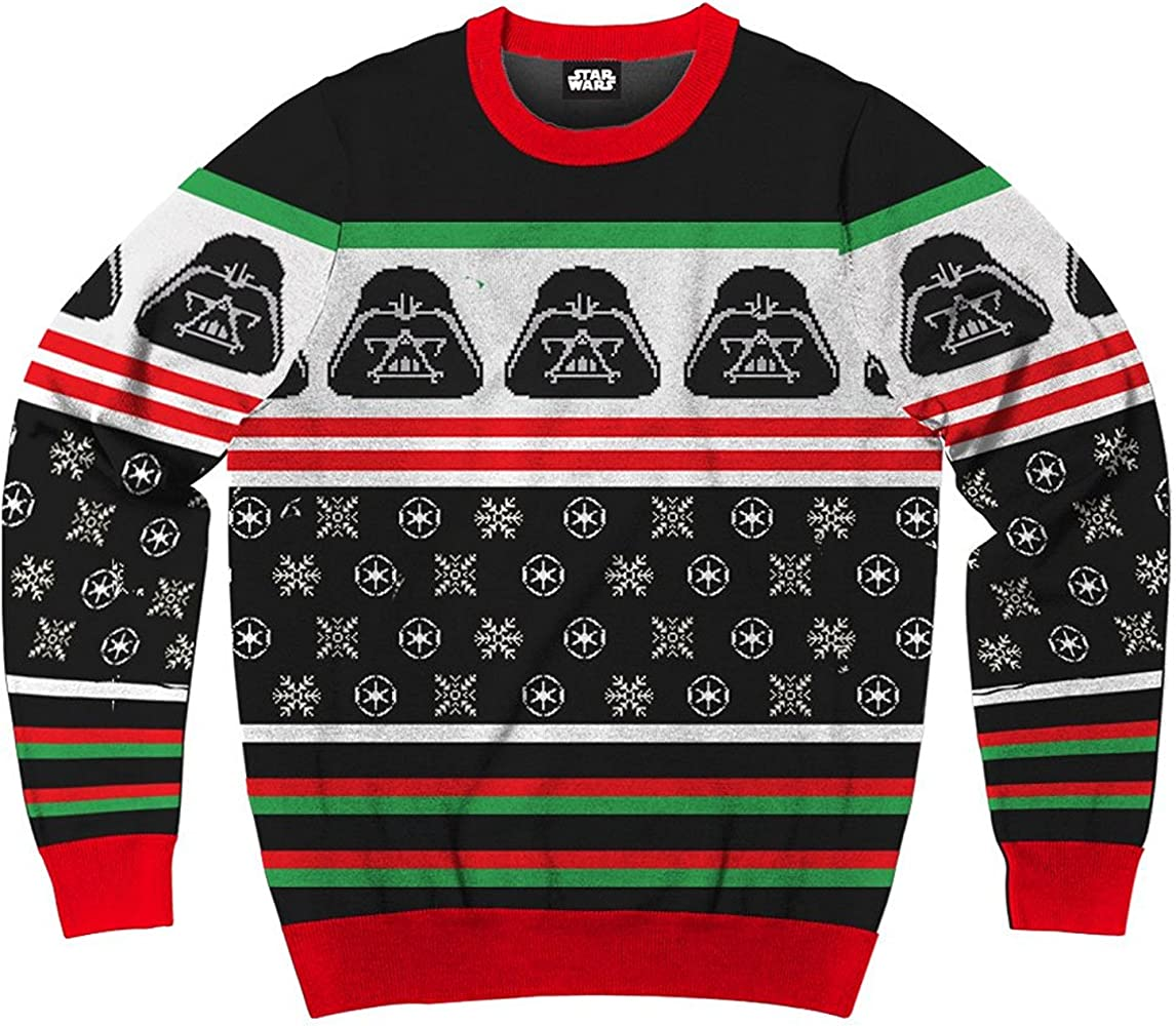 Ugly Sweater Christmas.Star Wars Darth Vader Simply Men S Ugly Christmas Sweater