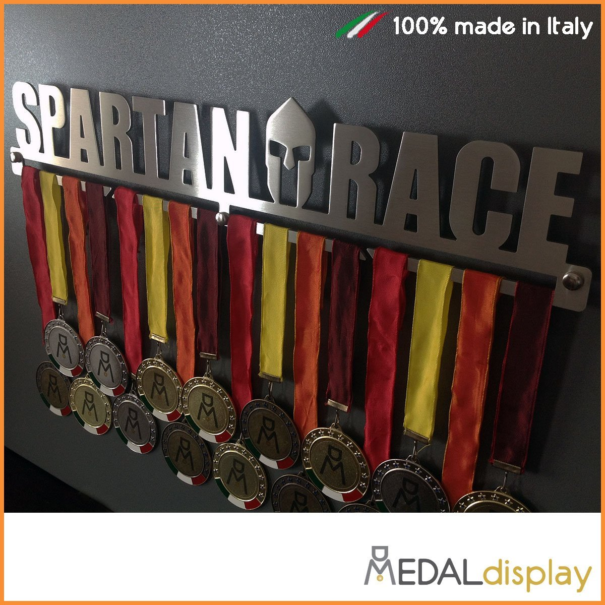 Spartan Race Medals Wall Rack Medal Display Hanger 450 Mm X 90 3 Co Uk Sports Outdoors