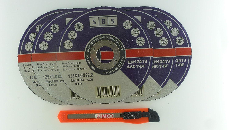 30 Stü ck Inox Trennscheiben 125 x 1, 0 x 22 +1x Zimbocuttermesser gratis SBS