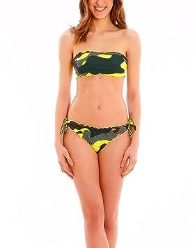 c44ad6efa14f Riviera Beachwear Bandeau Camo, Bikini para Mujer, Traje de baño ...