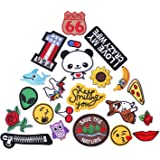 AXEN 22 PCS Assorted Styles Cool Embroidered Iron Patch on Cute Sewing Applique Applique for Jacket Hat Backpack Jeans Sewing