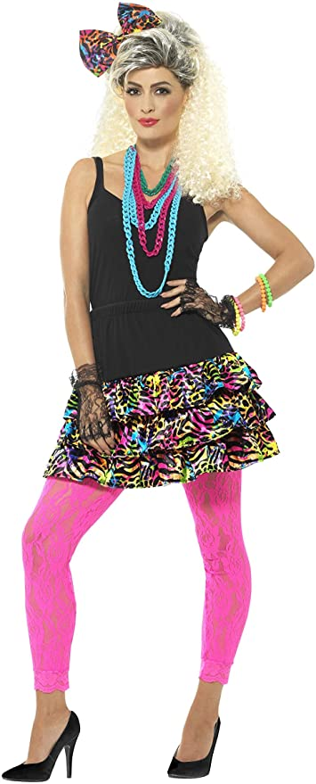 80s Costumes, Outfit Ideas- Girls and Guys Smiffys 80s Party Girl Kit £19.76 AT vintagedancer.com