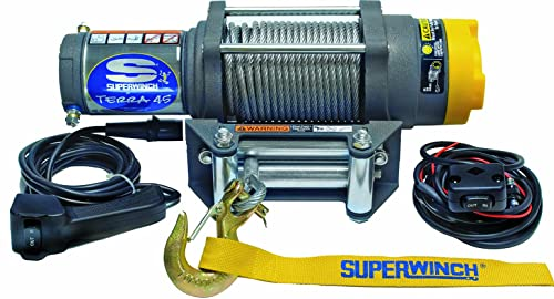This tow winch has enough power to handle weight not exceeding 4500 lbs.