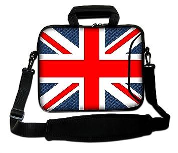 Bolso Bandolera Luxburg para Ordenador portátil, 12 Pulgadas, Flexible, con asa; Motivo: Union Jack.: Amazon.es: Informática