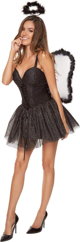 Ann Summers – Disfraz de sexy disfraz de ángel negro sexy fiesta ...