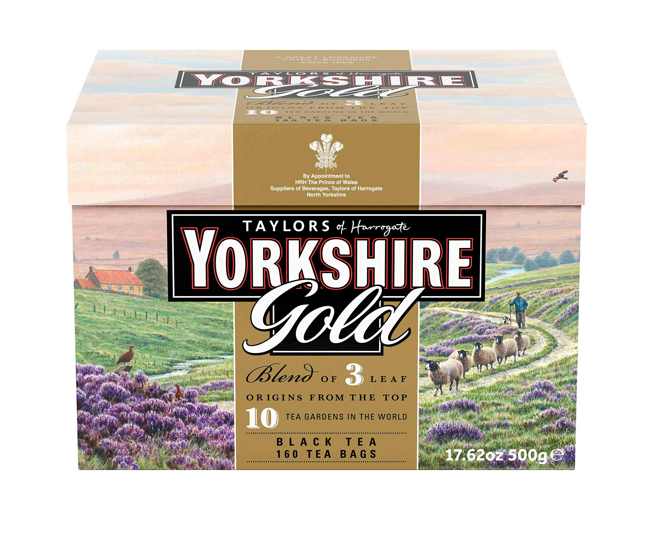 Taylors of Harrogate Yorkshire Gold, 160 Teabags (Pack of 6)