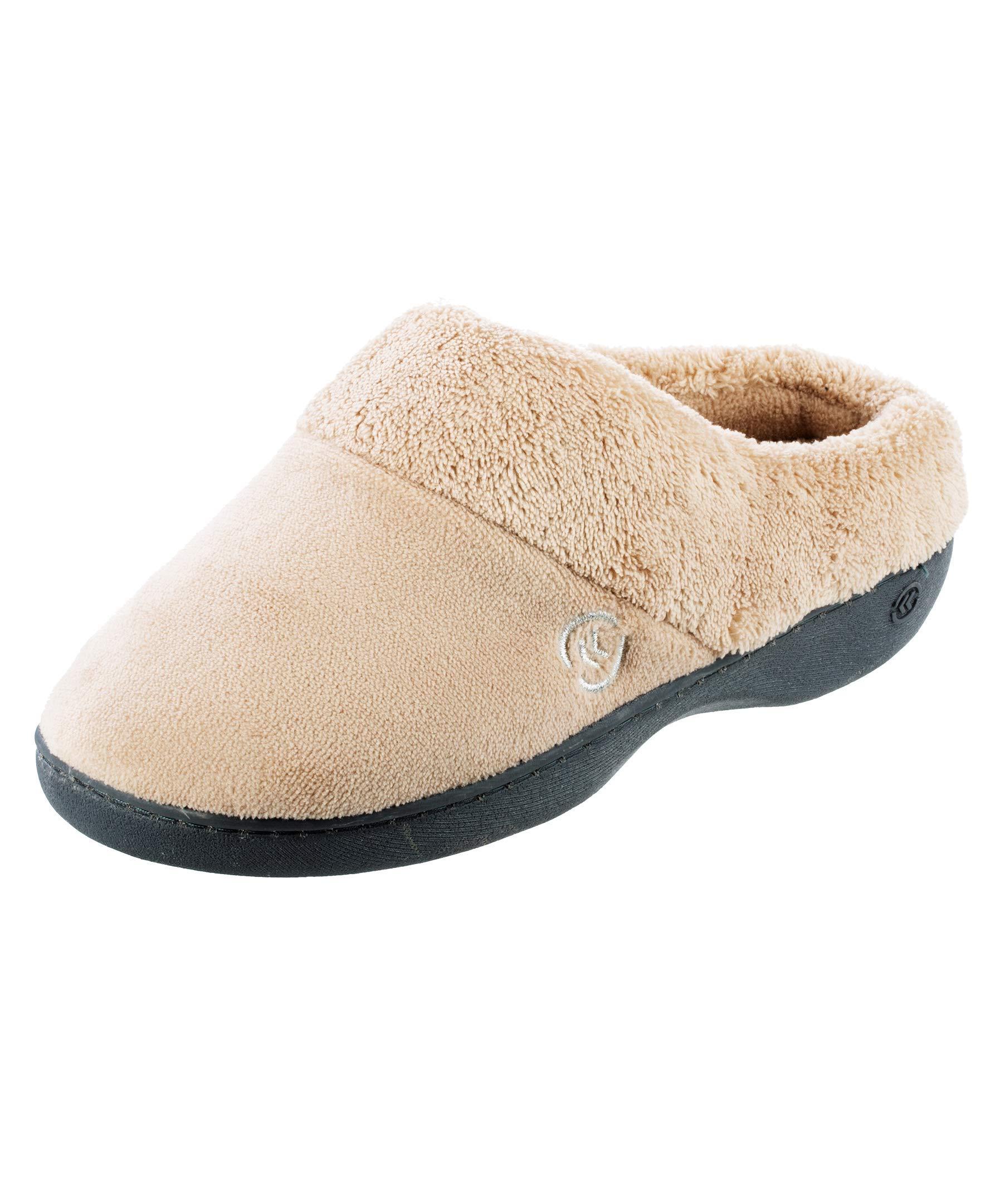 isotoner Women's Terry Slip In Clog, Memory Foam, Comfort and Arch Support, Indoor/Outdoor
