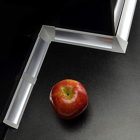 Piano Di Lavoro Cucina Fai Da Te.Impostato 23 Mm Pvc Cucina Piano Di Lavoro Bordatura Accessori Colore Alluminio