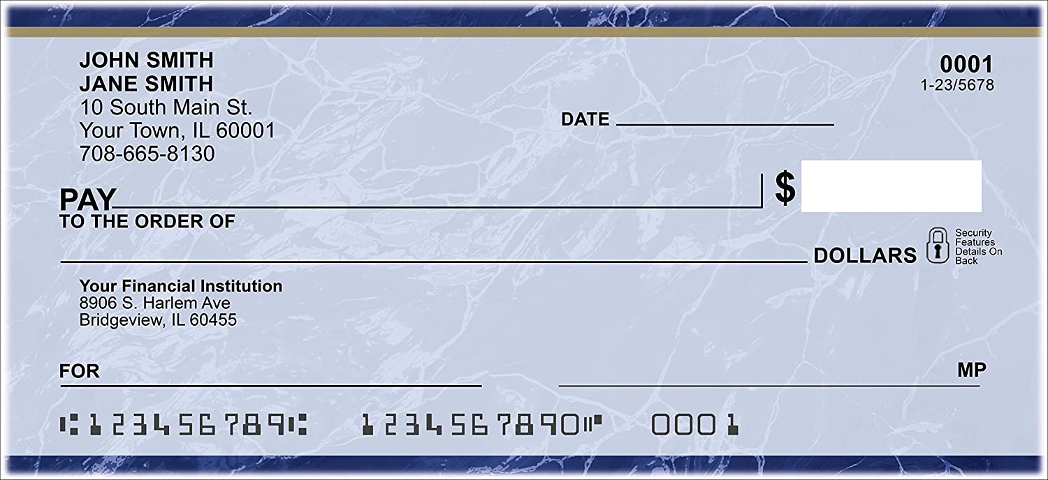 Blue Marble Personal Checks (1 Box of Duplicates) Office ...