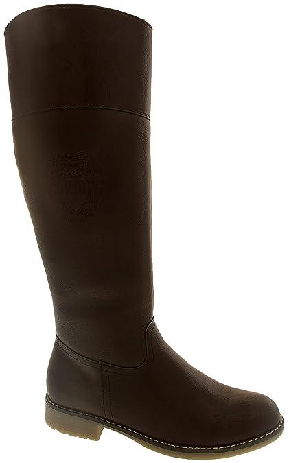 Footwear Studio Keddo Bottes au Genou D'Hiver en Cuir Faux Femmes EU 36 Marron xLGeJvI
