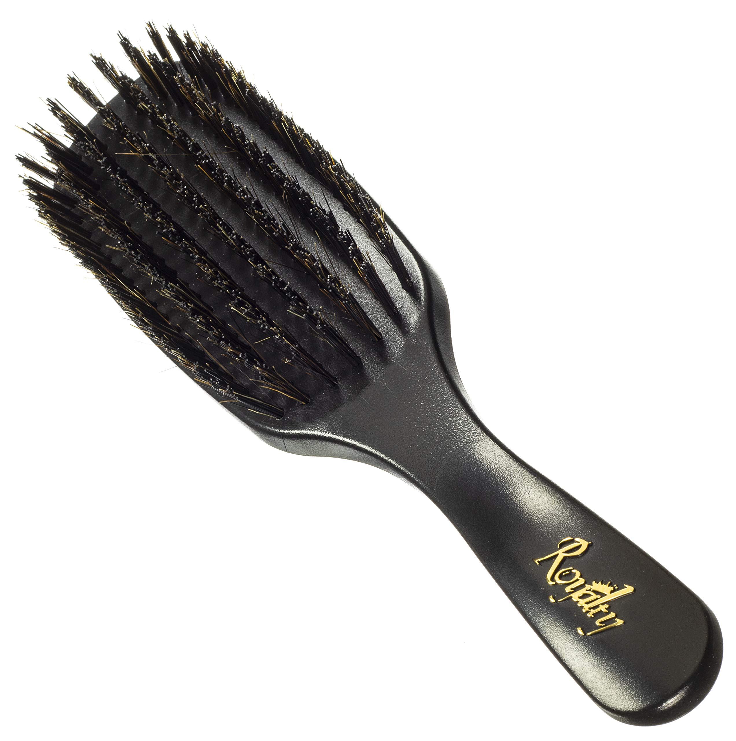 Royalty Shower Wave Brush #726- 7 row hard waves brush for wash and styles and shower brushing- Not for fresh cuts - For 360 waves