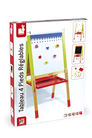 Amazon.com: Janod J07582 Height Adjustable Easel Wooden Toy: Toys ...