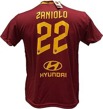 DND de Andolfo Ciro Camiseta de fútbol Zaniolo 22 Roma réplica autorizada 2019-2020 tallas de niño y adulto: Amazon.es: Ropa y accesorios