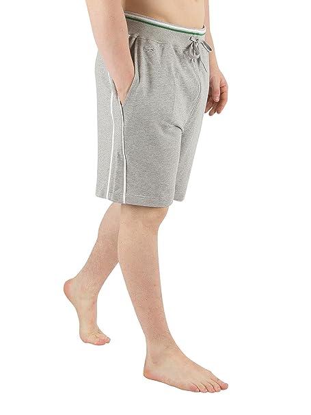 Lacoste Hombre Lounge Pantalones Cortos de Pijama, Gris: Amazon.es: Ropa y accesorios