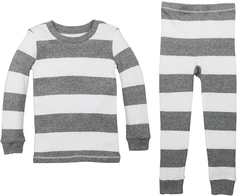 100/% Organic Cotton Tee and Pant 2-Piece Pj Set Burts Bees Baby Baby Girls Pajamas