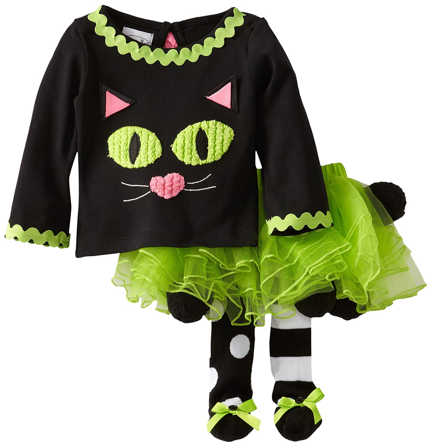 Mud Pie Baby-Girls Newborn Cat Tutu Set, Multi, 9-12 Months