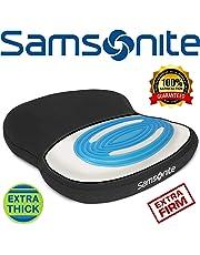 Samsonite SA6020 - Cojín de asiento extra firme y grueso con gel de enfriamiento - Espuma de memoria premium - Se adapta a la mayoría de los asientos - Parte inferior antideslizante