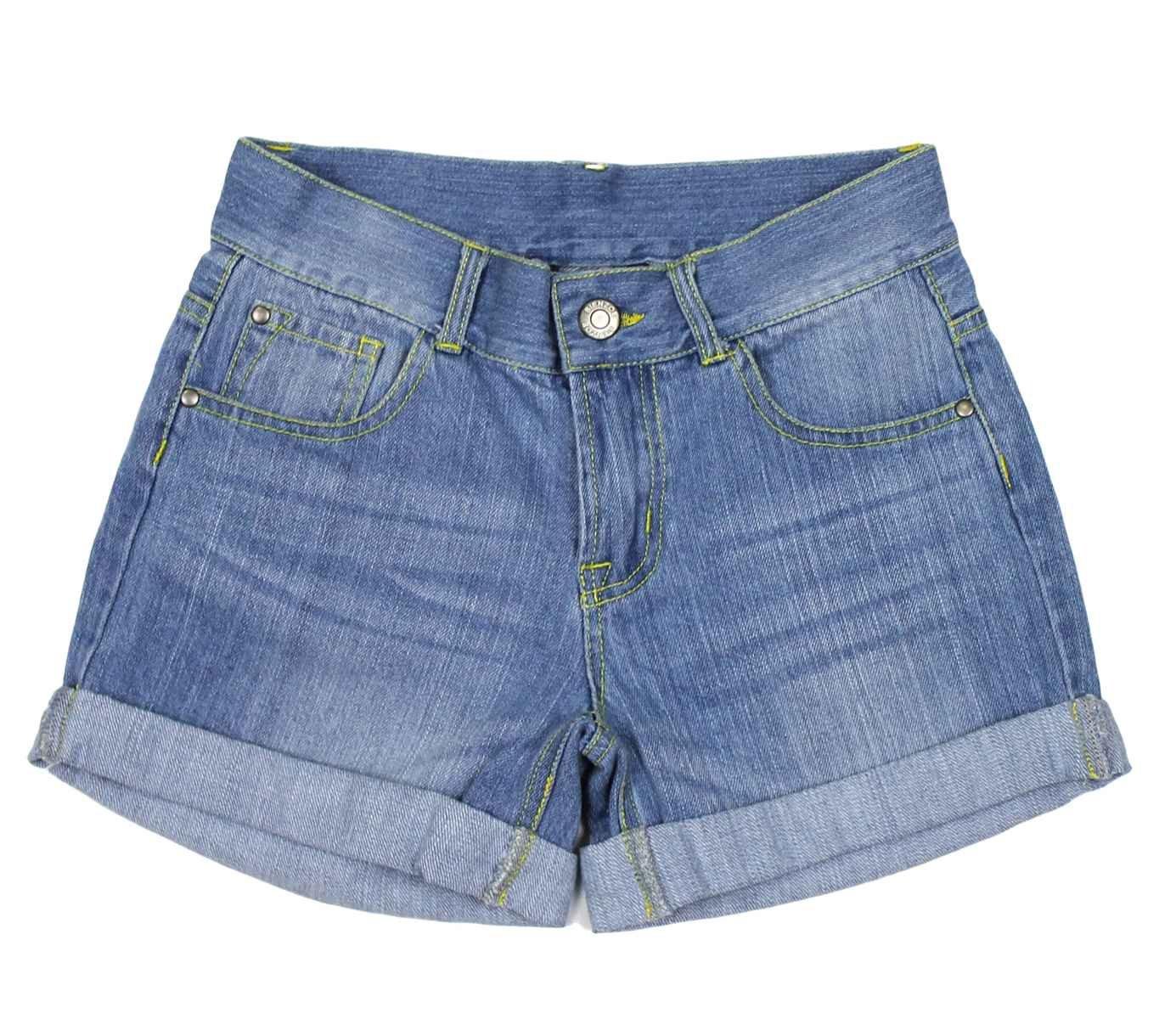 Bienzoe, pantaloncini da ragazza in tessuto denim