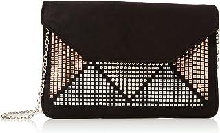 New Look Women's Heidi Stud Plain Lingerie Bag, Black, One Size (Manufacturer Size: 99)