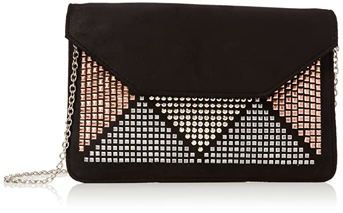 Womens Heidi Stud Lingerie Bag, Black, One Size (Manufacturer Size: 99) New Look