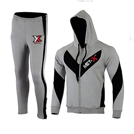 c8d40470b3 MET-X Abbigliamento Nuovo da Uomo Contrasto Corda Cerniera Intera ...