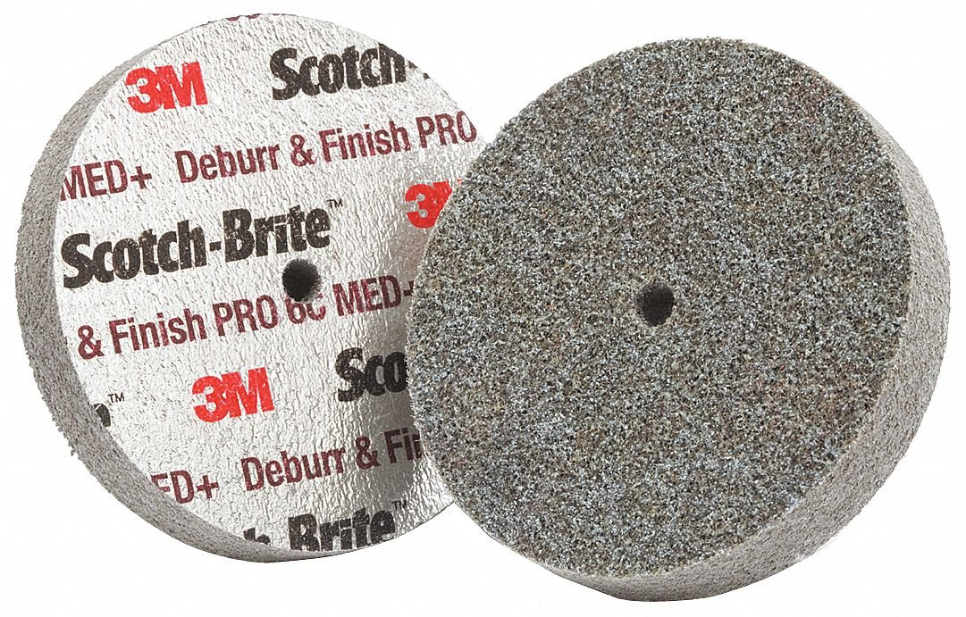 Scotch-BriteTM Deburr and Finish PRO Unitized Wheel, DP-UW 3' x 1', MED - Ceramic Grain DP-UW 3 x 1 3M