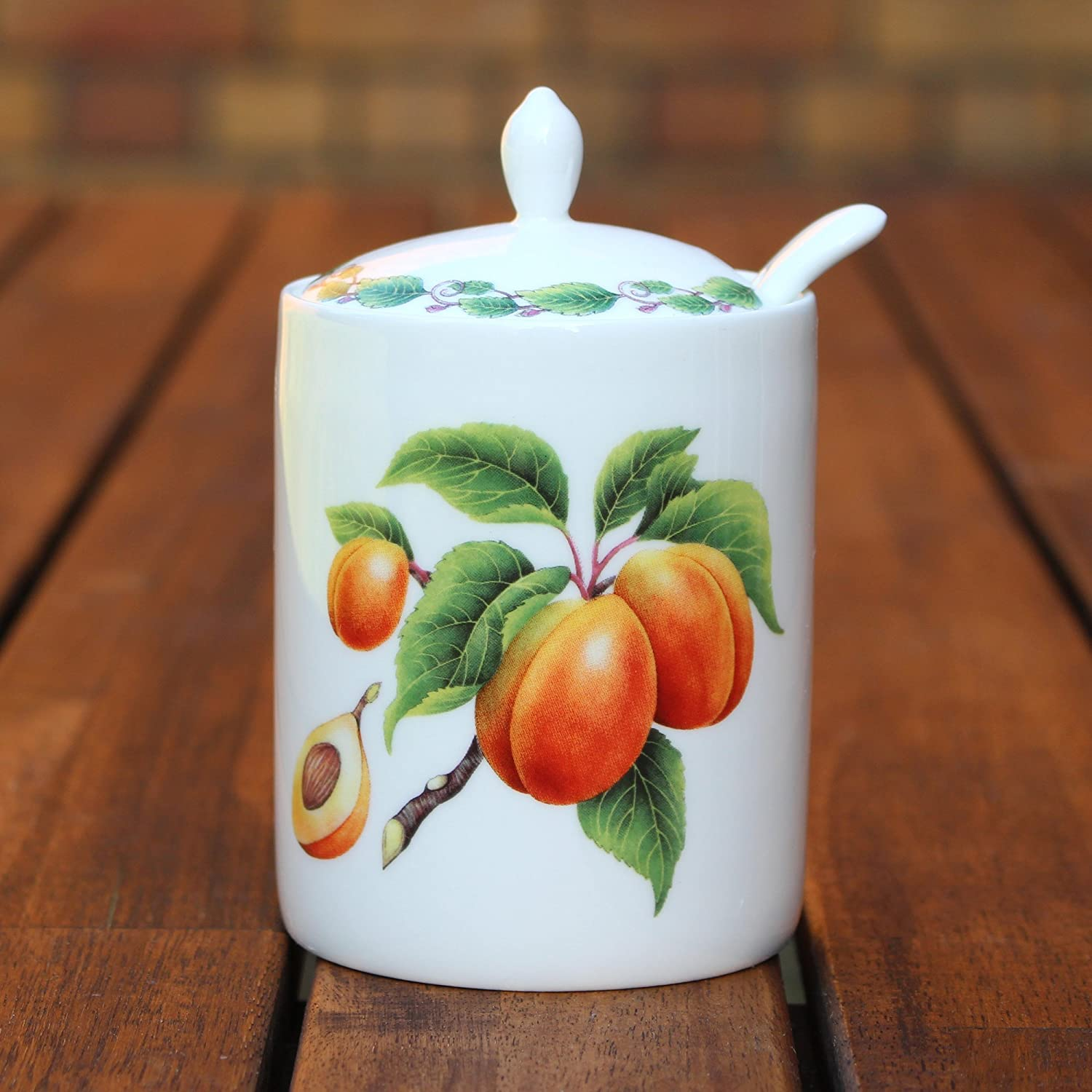 Redwood Collection Modern Jam Pot and Spoon - Apricot The Redwood Collection RW8532