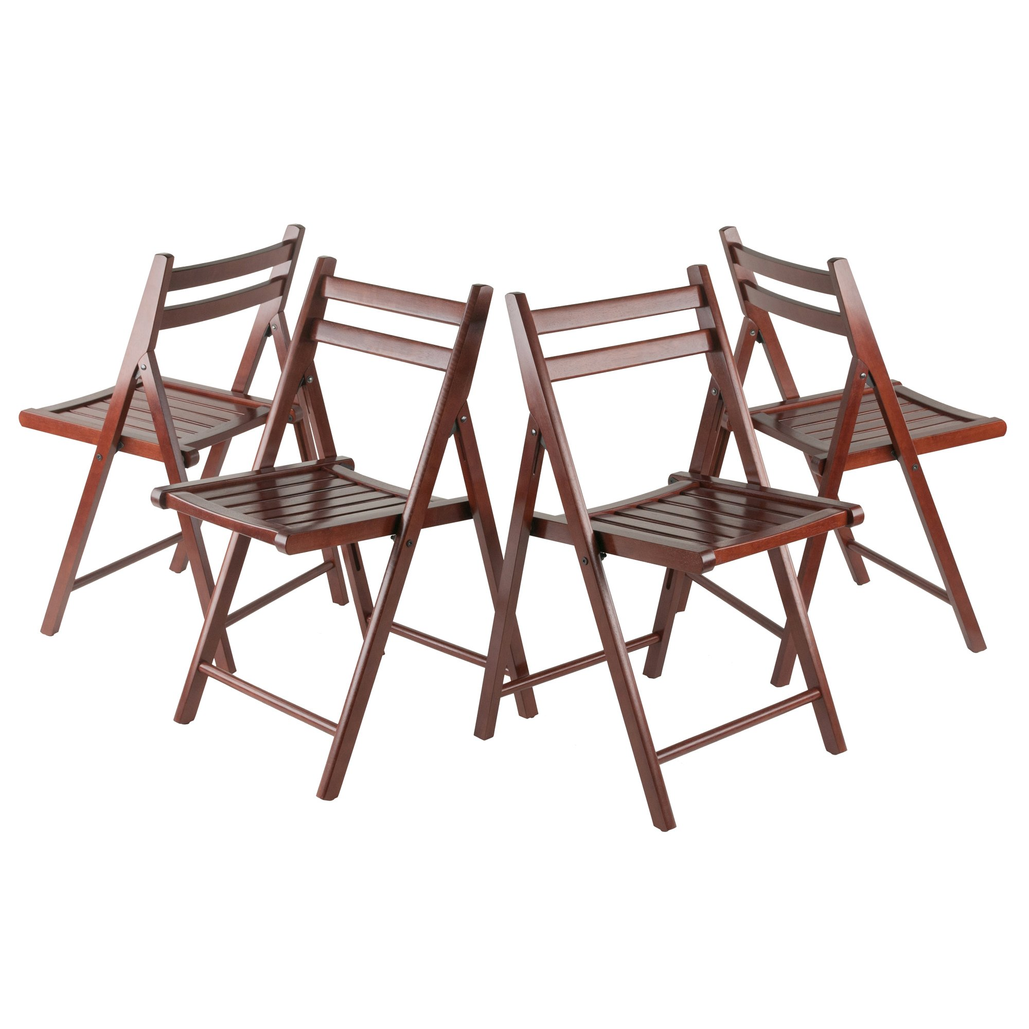 Winsome Wood Robin 4 Piece Folding Chair Set Walnut by Winsome Wood (Image #2)
