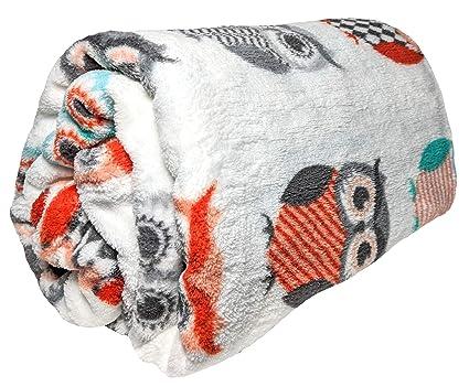 92d08207742 Amazon.com  JustHome Fun Print Soft Cozy Lightweight 50 x 60 Fleece ...