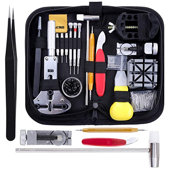 82b31e552 Zacro 151 Pcs Kit de Reparación de Relojes, con Herramientas de Reloj Barra  de Resorte