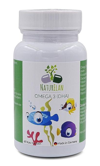 Omega-3 para niños más vitamina A, vitamina C, vitamina D y ...