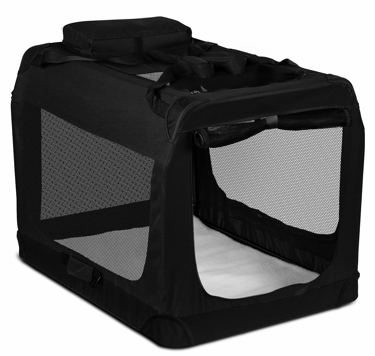 "Black Portable Dog Crate Pet Carrier Foldable Kennel Soft Sided Cage 40""x27''x28'' Size 3XL"